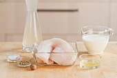 Ingredients for fish dumplings