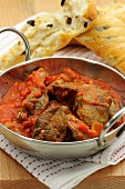 Fegato di pollo al pomodoro (chicken liver with tomato sauce)