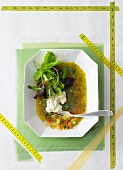 Vegetable aspic with dill
