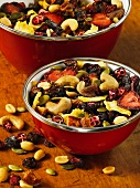 Bowls of trail mix