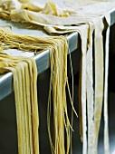 Home-made ribbon pasta