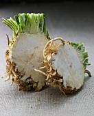 Celeriac, halved