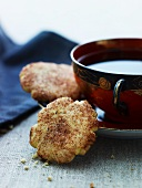 Cinnamon biscuits and a cup of tea