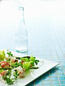 Asparagus salad with lobster