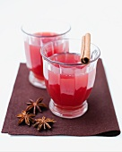Alcohol-free punch with fruit tea