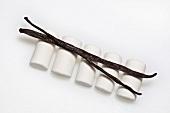 White vanilla flavoured organic marshmallows