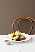 Roast pork with crackling and potato dumplings