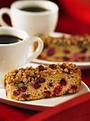 Cranberry-Streusel-Kuchen zum Kaffee