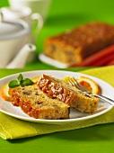 Sticky rhubarb bread (USA)