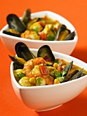 Seafood stew with sweetcorn
