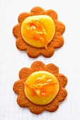 Biscuits topped with orange curd