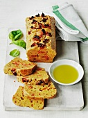 Gluten-free bread with dried tomatoes and olive oil