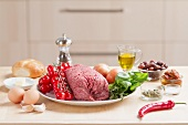 Ingredients for Mediterranean meat loaf
