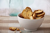 A bowl of biscuits