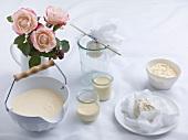 Homemade ricotta and cream cheese