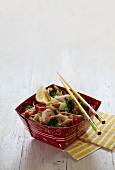 Noodles with chicken and broccoli (Asia)