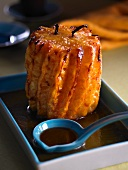 Roasted pineapple with caramel sauce