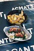Gratinated hake and thyme potatoes