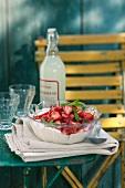 Marinated strawberries with vanilla cream