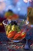 Lobster, avocado mousse and caviar consomme