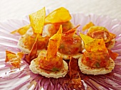 Pepper jelly canapes