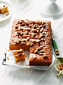 Semolina and almond cake with syrup