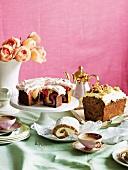 An elegant cake buffet