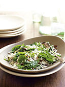 Wild rice and spinach salad