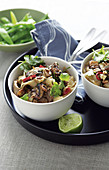 Thai-style stir fried pork and noodles