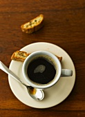 Caffè e cantucci (espresso and almond biscuits, Italy)