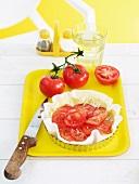 A raw tomato tart