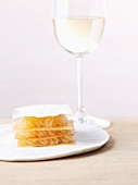 Mille feuilles with lemon cream