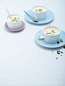 Zabaglione with pistachios