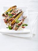 Razor clams with chorizo