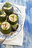 Round zucchini with ricotta filling