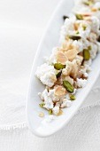 Brocciu with honey, pistachio and almonds