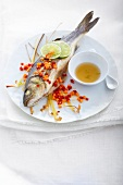 Sea bass with lemon grass