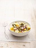 Smoked herring salad with lemons and artichokes
