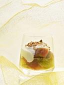 Apple-rhubarb trifle