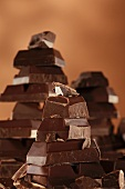 Stacks of chocolate