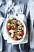Oven-baked Mediterranean vegetables