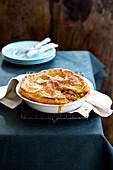 Lamb pie with chickpeas