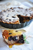 A cherry and almond pie