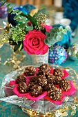 Festive chocolate truffles