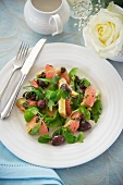 Artichoke and grapefruit salad