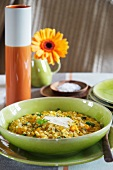 Pumpkin and barley risotto