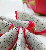 Close Up of Dragon Fruit Slices