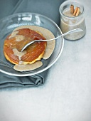 Tarte tatin with cider sauce