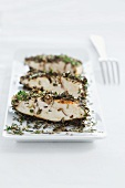 Chicken breast with an herb crust