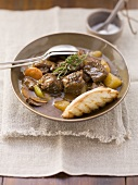 Beef stew made in a slow cooker